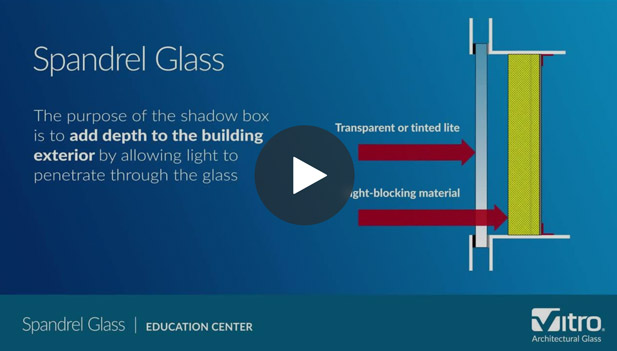 ca890de2a There are a wide range of glasses to choose from to meet the needs of any  project. Spandrel glass is one such option.